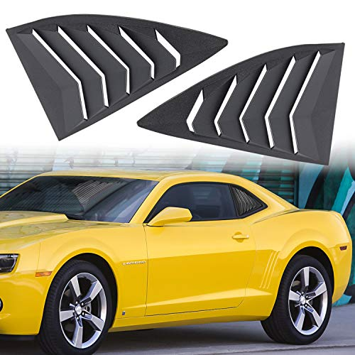 Danti For 2010-2015 Camaro LS LT RS SS GTS Quarter Side Window Scoop Louvers ABS Window Cover Vent Lambo Style (2pcs) ()