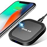 OPOLAR Fast Wireless Charger, Qi Certified(20% Faster, Zero Heat Buildup, Sleep Friendly Indicator, Anti-Skid, Case Friendly, 10W for Samsung, 6W for iPhone and Other Qi-Enabled Devices - No Adapter)