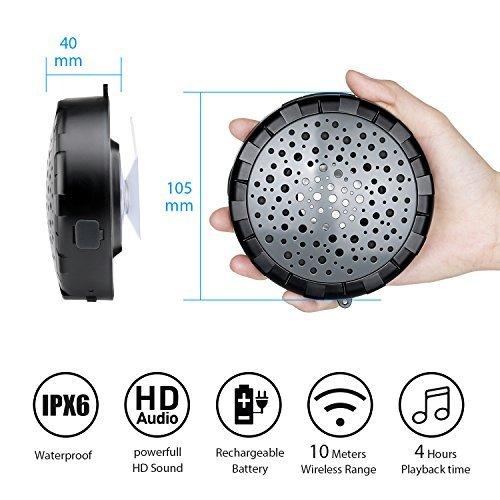 Splashproof Shower Speaker Outdoor Wireless Portable Waterproof Ipx6 Bluetooth Speaker With