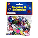 Hygloss Products, Inc 1-Ounce Bag Sequins and Spangles, 1 oz