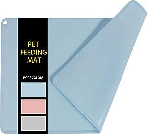 GOHOO PET Dog Food Mat Silicone Dog Bowl Mats for Water and Food Nonslip Dog Cat Pet Feeding Placemat