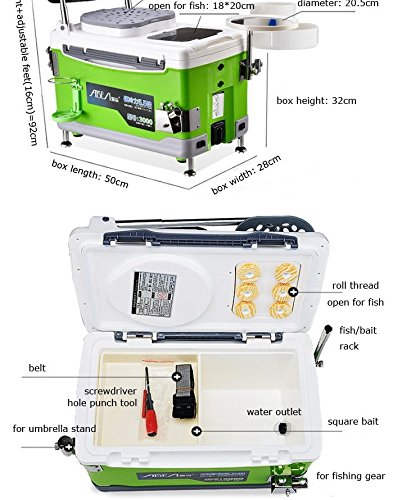 The Ultimate Multifunctional Fishing Tackle Box (Green) by Urenda