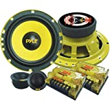 2-Way Custom Component Speaker System - 6.5' 400 Watt Component with Electroplated Steel Basket, Butyl Rubber Surround & 40 Oz Magnet Structure - Wire Installation Hardware Set Included - Pyle PLG6C