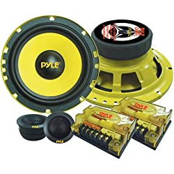 2 Way Custom Component Speaker System 6 5� 400 Watt Component With Electroplated Steel Basket Butyl Rubber Surround 40 Oz Magnet Structure Wire Installation Hardware Set Included Pyle Plg6c