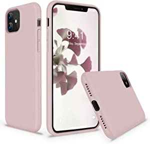 Vooii iPhone 11 Case, Soft Liquid Silicone Slim Rubber Full Body Protective iPhone 11 Case Cover (with Soft Microfiber Lining) Design for iPhone 11 - Sand Pink