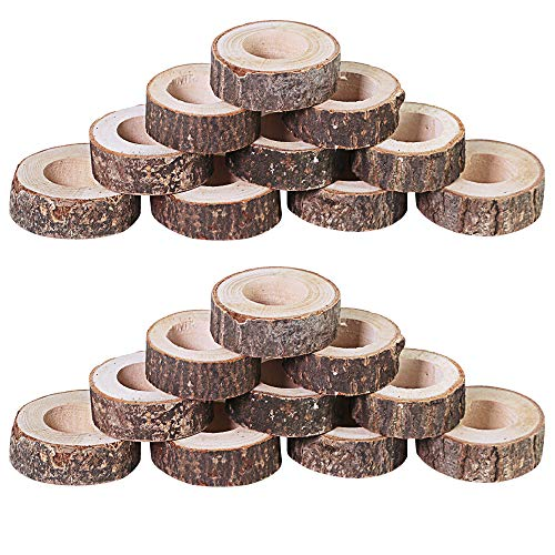 windiy Supla 20 Pcs Rustic Wood Napkin Holders Natural Napkin Rings Wooden Napkin Holders Napkin Ring Wood Napkin Holder for Rustic Wedding Favors Bridal Shower