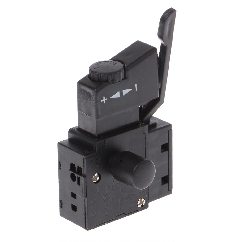 YUNAWU FA2-6/1BEK Lock on Power Tool Electric Drill Speed Control Trigger Button Switch