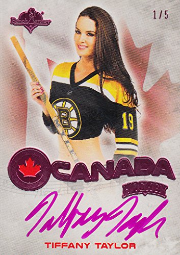 2014 Bench Warmer Hockey O Canada Exclusive Autographs Pink Foil #18 Tiffany Taylor Auto /5 - - Canada Tiffany