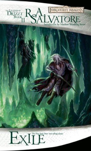 Book cover from Exile (The Legend of Drizzt) by R.A. Salvatore