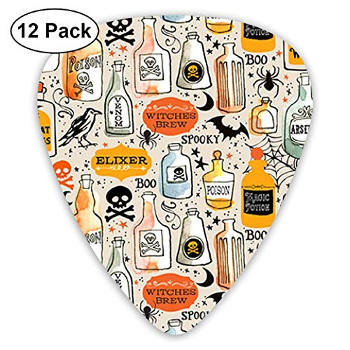 Vintage Potions Nurse Halloween 351 Shape Classic Celluloid Guitar Pick For Electric Acoustic Mandolin Bass (12 Count) ()