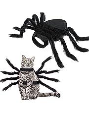 Halloween Spider Kostuum voor hondenkat, Halloween Pet Kostuum Halloween Decoraties, Spider Decor Halloween Party Supply, Spider Cosplay Kostuums met verstelbaar klittenband voor kleine middelgrote honden en katten
