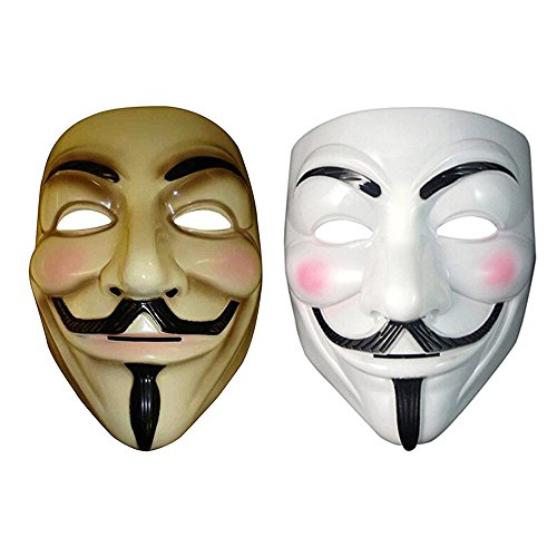 V for Vendetta Anonymous Mask Masquerade Halloween Fancy Dress Cosplay - 7