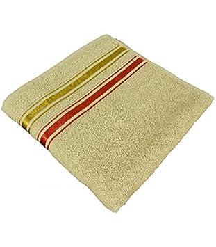 Home And Deco Toalla de Ducha con 2 liteaux 70 x 130 cm 100% algodón Lavado Separado de 30 ° y Pas de Planchar Posible, Crema, 70x130: Amazon.es: Hogar