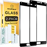 [2-Pack]-Mr Shield for Samsung Galaxy Note 4 [Tempered Glass] [Full Cover] [Black] Screen Protector with Lifetime Replacement Warranty