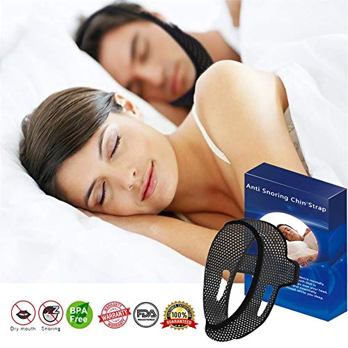 Anti Snoring Chin Strap for Cpap Users ,Snoring Solution Anti Snoring Devices Stop Snoring , Sleep Devices Chin Strap Snore Stopper Sleep Aid for Men Women Anti Snore Mouth Guard for Snoring