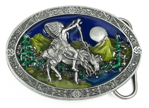 Pewter Belt Buckle - Chief Joseph - Indian Chief