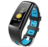 LJXAN CD09 Smart Bracelet Color Screen Heart Rate Blood Pressure Monitoring Step Sports Waterproof Intelligent Reminder Bracelet,Blue