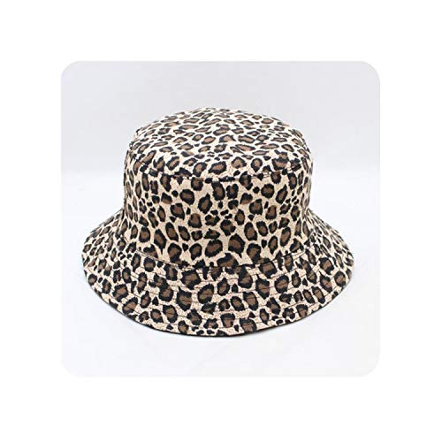Encounter_meet Summer Reversible Cappello Pescatore Leopard Fisherman Caps Bucket Hats for Womens Ladies,1]()