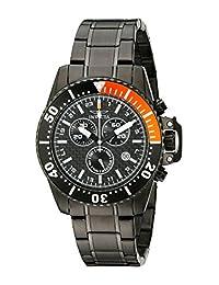 Invicta Men's 11290 Pro Diver Chronograph Black Carbon Fiber Dial Stainless Steel Watch
