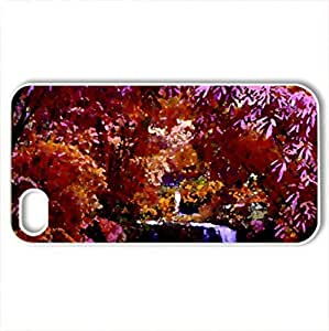 AUTUMN FOREST CREEK - Case Cover for iPhone 4 and 4s (Forests Series, Watercolor style, White)