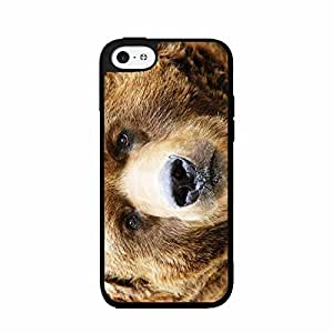 Big Brown Bear - in Phone Case Back Cover (iPhone 6 4.7 2- body piece Dual Layer) of constipation