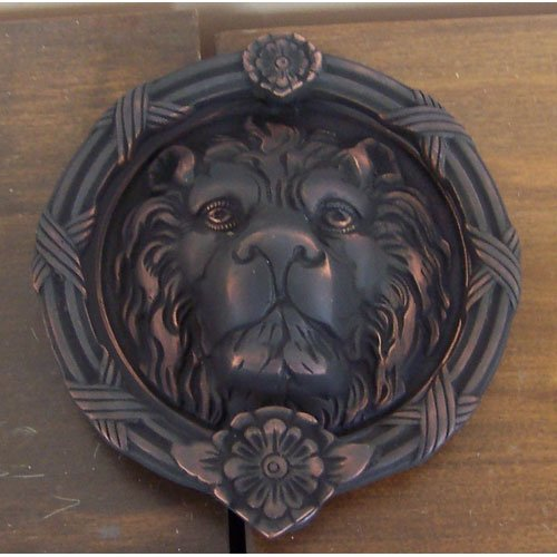 BRASS Accents A07-K5100-613VB 8.375'' Leo Lion Door Knocker, Venetian Bronze Finish by BRASS Accents