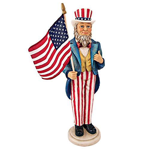 Design Toscano EU31651 Uncle Sam Yankee Doodle Dandy Statue, Full Color