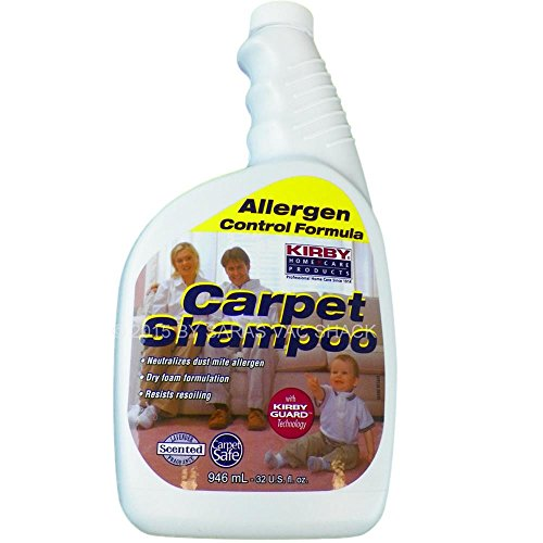 Vacuum Parts & Accessories Kirby 252702 Genuine Allergen Dry Foam Scented Carpet Shampoo 32 oz Quart