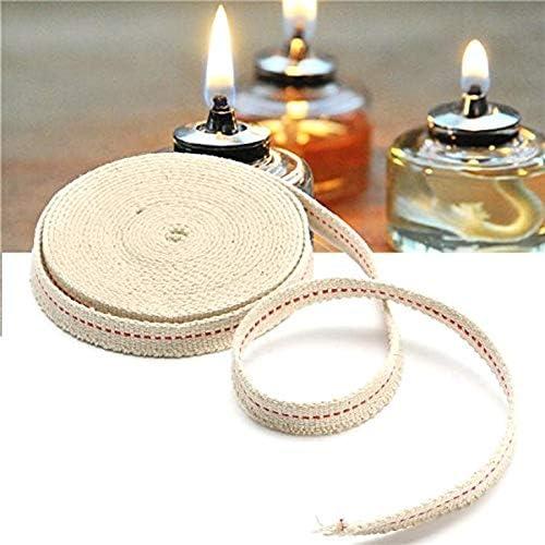 Agger 1Roll de p/étrole Plat Lampes Wick lanternes Coton M/èche Plate Coton Wick Lampes /à Huile