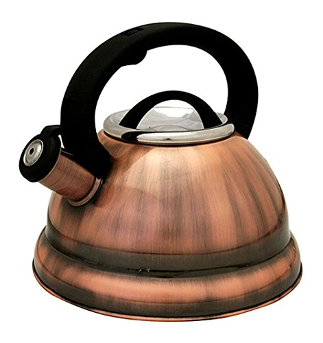 Encapsulated Base (Stainless Steel Whistling Tea Kettle or Tea Maker w/ Encapsulated Base 2.8 Liter (Dark Copper))