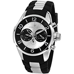 Aquaswiss TR805012 Trax Man's Watch Stainless Steel Day and Date military Time