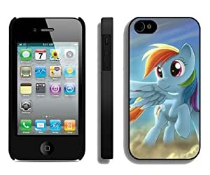 My Little Pony Rainbow Dash Black Durable Hard Shell iPhone 4S Phone Case