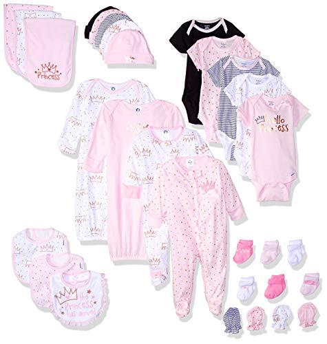 Gerber Baby 30-Piece Essentials Gift Set, Princess Crown, Newborn (Baby Layette Socks)