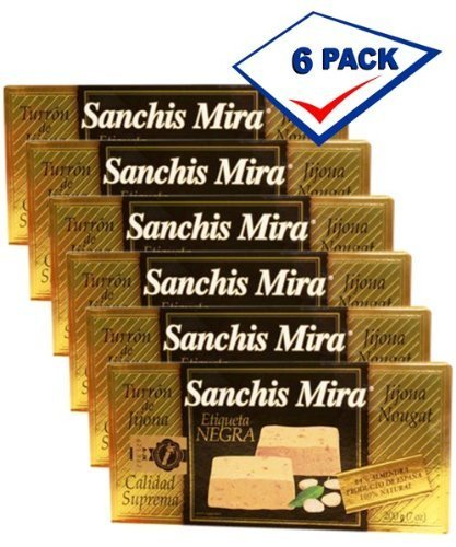 Sanchis Mira Turron de Jijona. 7 oz. Just arrived from Spain. Pack of 6