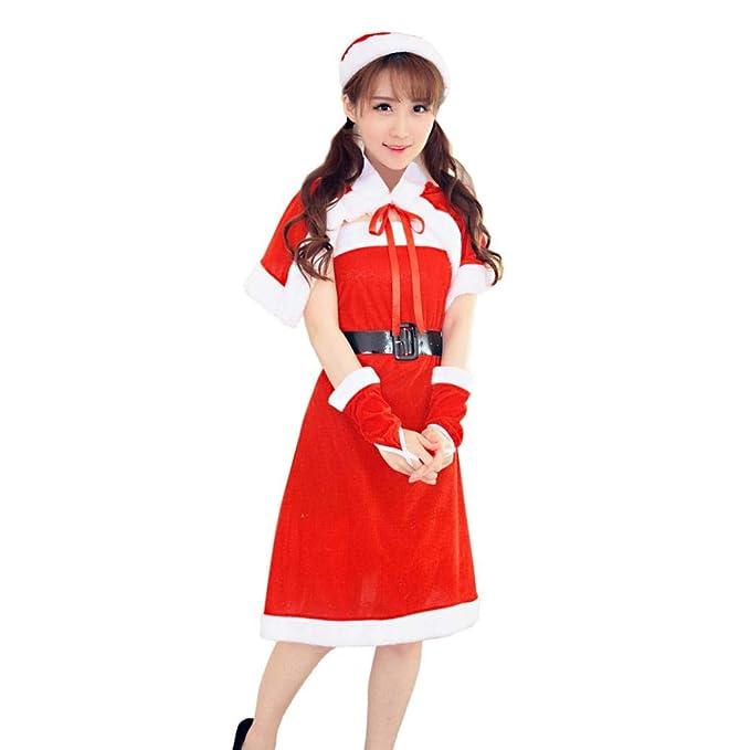 d9ed3c660e29 Amazon.com: Yutao Women Christmas Dress Costume Fancy Dress Xmas ...