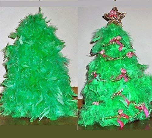 Amazon.com: Green Feather Table Top Christmas Tree. 14