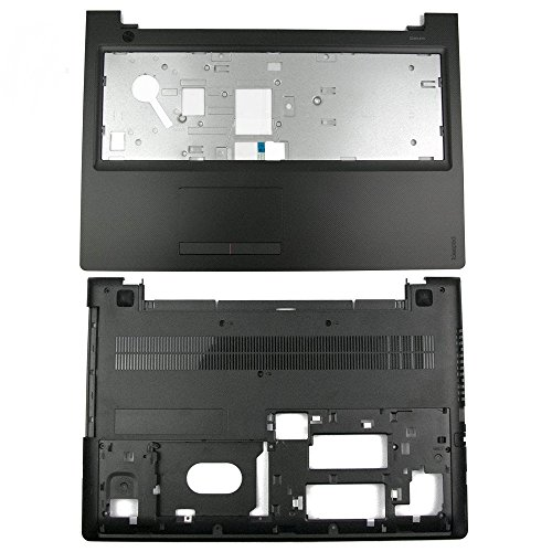 Palmrest Touchpad Base - Lenboes Laptop Palmrest Upper Case with Touchpad & Bottom Base Cover Midframe Bezel Lower Case Enclosure Replacement for IBM Lenovo Ideapad 300-15 300-15ISK