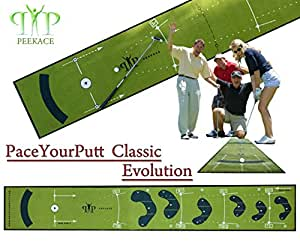 NEW ! Golf Alfombras Putting Mat PaceYourPutt CLASSIC EVOLUTION by Peekace - 400x60cm