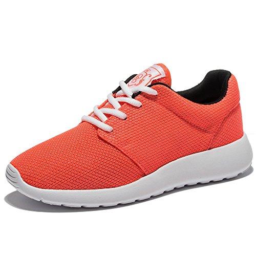 Wotte Kvinnor Löparskor Andas Mesh Sport Träningsskor Lätt Avslappnad Walking Sneakers Apelsin