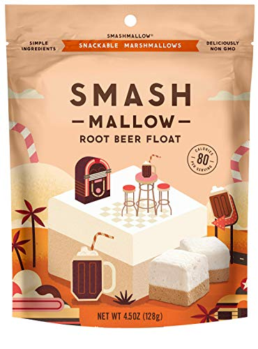 Root Beer Float by SMASHMALLOW | Snackable Marshmallows | Non-GMO | Organic Cane Sugar | 80 calories | (4.5 ()