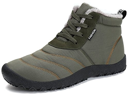 (Dreamcity Women's Winter Snow Boots Waterproof Insulated Outdoor Shoes(ArmyGreen,6.5) )