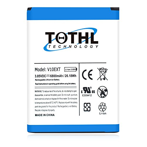 LG V10 Battery,TQTHL 6800mAh Extended Battery with Soft TPU
