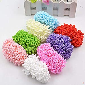 Topsame 12pcs Artificial Flower Foam Baby's Breath Wedding Home DIY Scrapbooking Decorative Wreath Fake Flower 97