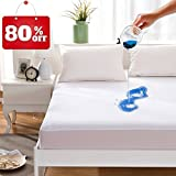 Maevis Bed Waterproof Mattress Protector Cover Pad Fitted 18 Inches Deep Pocket Premium Washable Vinyl Free - Queen