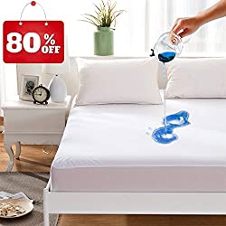 Maevis Bed Waterproof Mattress Protector Cover Pad Fitted...