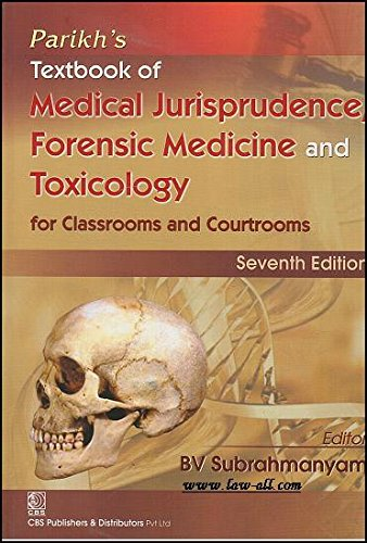 Pariks Textbook Of Medical Jurisprudence Forensic Medicine And Toxicology For Classrooms And Courtrooms 7e Pb 2016 Amazon Com Books