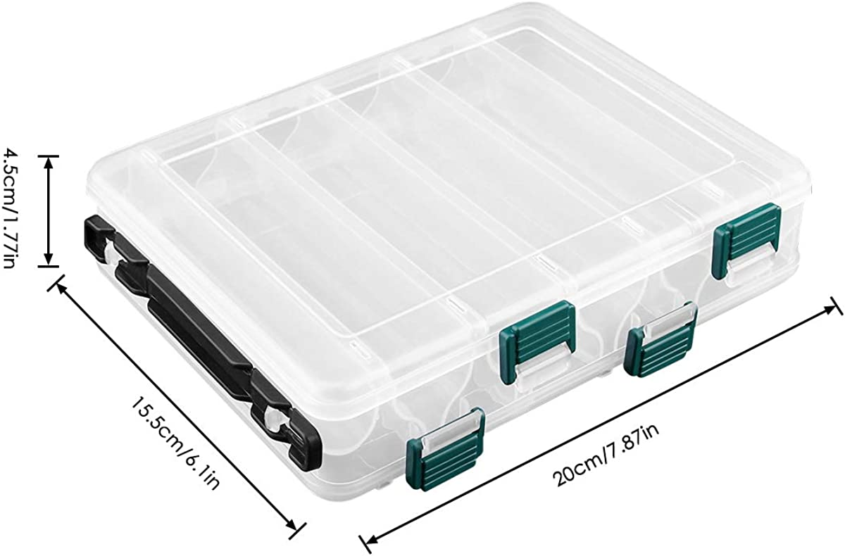 Details about  /2 Sided Fishing Tackle Box for Hooks Lures Rings Swivel Small Accessories