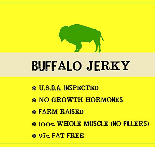 Original All Natural Buffalo Jerky - 3 PACK - The Best Wild Game Bison Jerky on the Market - 100% Whole Muscle Buffalo - No Added Preservatives, No Added Nitrates and No Added MSG - 6 total oz.