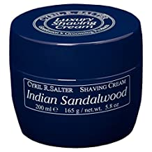 Cyril Salter Luxury Shaving Cream (Indian Sandalwood 165g) by Cyril R Salter
