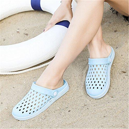 Skid Women's Sandal Shoes Women's Wet and Waterproof Flip Summer Anti Blue 5cm 23 25 Flops Beach 5Xwqr6qd